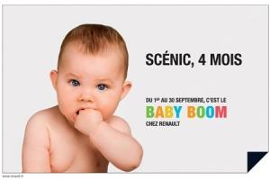 Campagne Renault Baby Boom par Publicis Dialog- Scénic